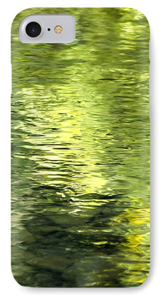 Green Abstract Water Reflection IPhone Case by Christina Rollo