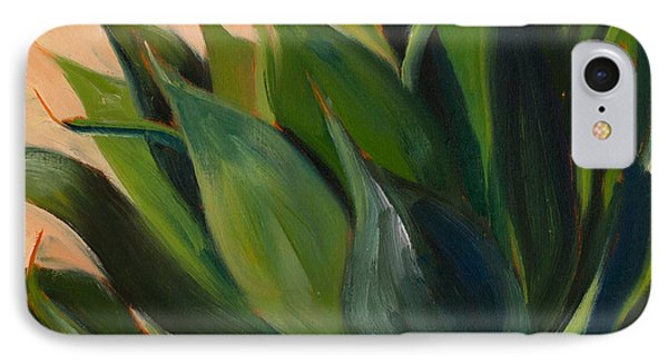 Green Agave Left IPhone Case by Athena Mantle