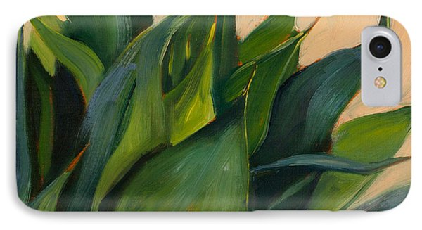 Green Agave Right IPhone Case by Athena Mantle