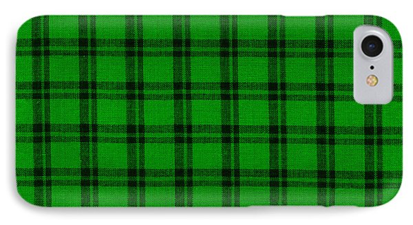 Green And Black  Plaid Cloth Background IPhone Case