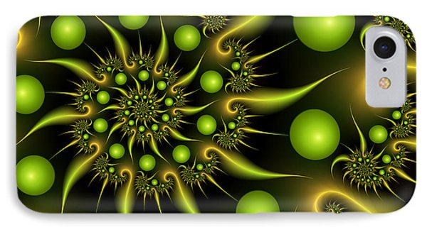 IPhone Case featuring the digital art Green And Gold by Gabiw Art