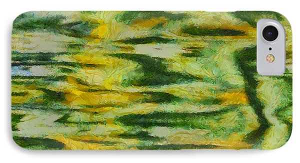 Green And Yellow Abstract Phone Case by Dan Sproul