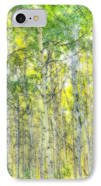 Green And Yellow IPhone Case by Wanda Krack