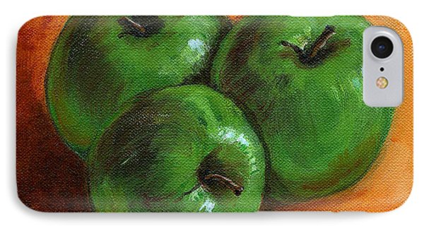 Green Apples Phone Case by Asha Sudhaker Shenoy