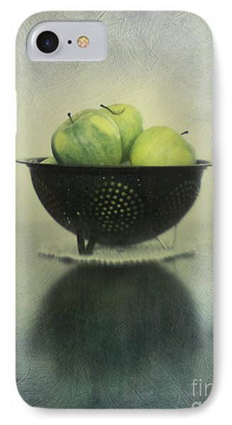 Green Apples In An Old Enamel Colander IPhone Case by Priska Wettstein