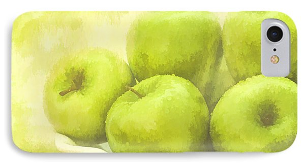 IPhone Case featuring the photograph Green Apples by Linda Blair