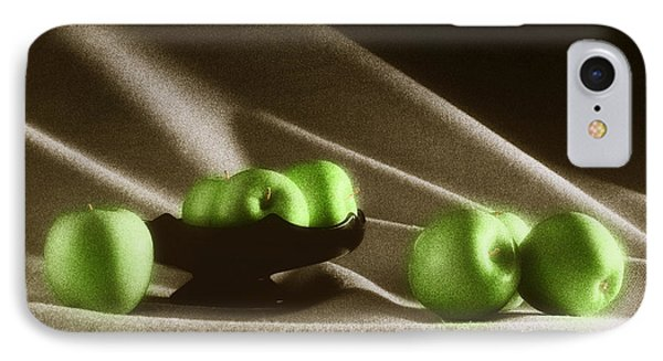 Green Apples Phone Case by Tony Cordoza