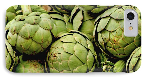 Green Artichokes IPhone Case by Art Block Collections