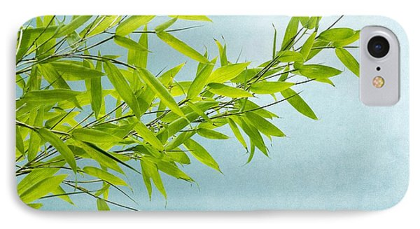 Green Bamboo IPhone Case by Priska Wettstein
