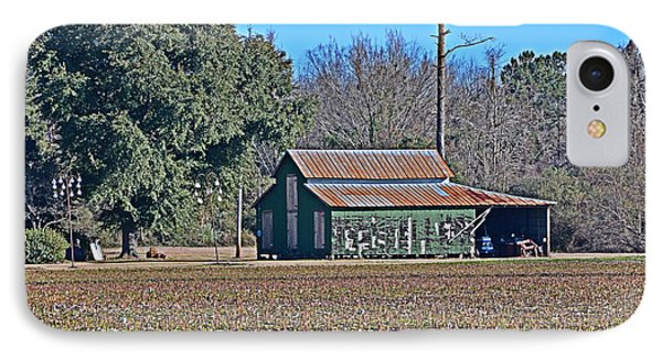 IPhone Case featuring the photograph Green Barn by Linda Brown