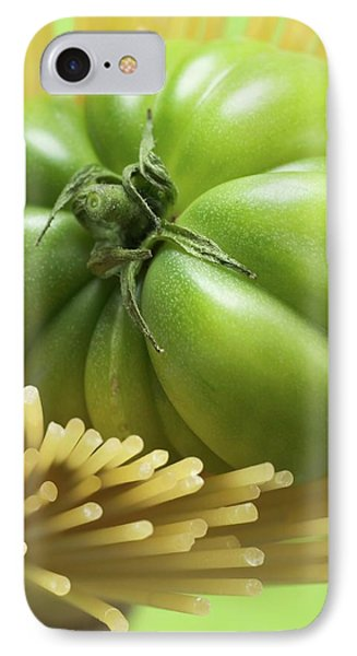 Green Beefsteak Tomato In A Bundle Of Spaghetti IPhone Case
