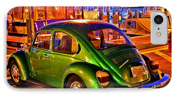 IPhone Case featuring the photograph Green Beetle by Christopher McKenzie