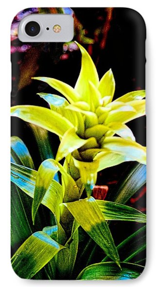 Green Bromeliad Phone Case by Sandra Pena de Ortiz