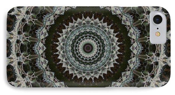 Green Brown Mandala Phone Case by Kathi Shotwell