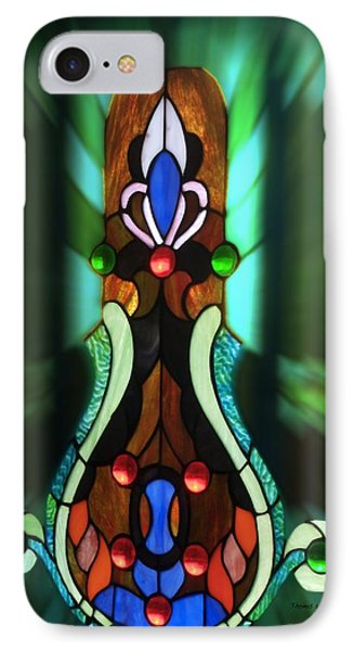 Green Brown Stained Glass Window Phone Case by Thomas Woolworth