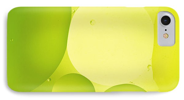 Green Bubbles Phone Case by Angela Bruno