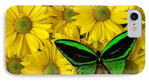 Green Butterfly Resting IPhone Case by Garry Gay