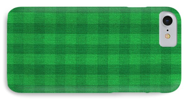 Green Checkered Pattern Cloth Background IPhone Case
