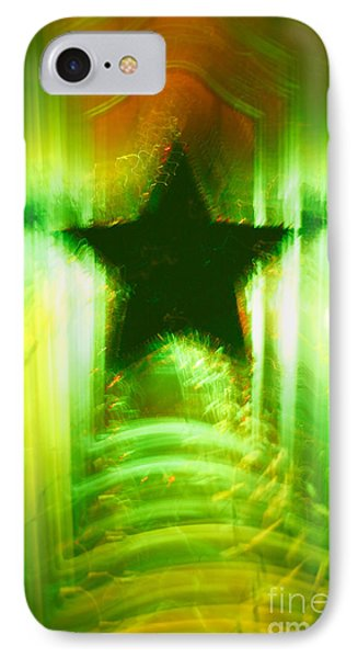 Green Christmas Star Phone Case by Gaspar Avila