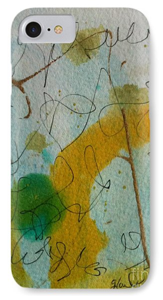 Green Circle Abstract Phone Case by Gloria Cooper