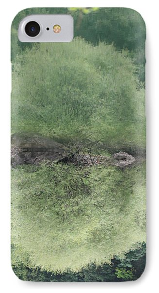 Green Clam Reflection IPhone Case by Phoenix De Vries