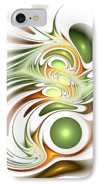 Green Creation Phone Case by Anastasiya Malakhova