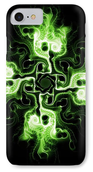 Green Cross IPhone Case by Anastasiya Malakhova