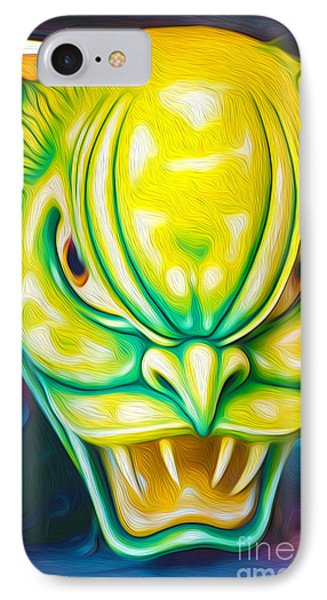 Green Demon IPhone Case by Gregory Dyer