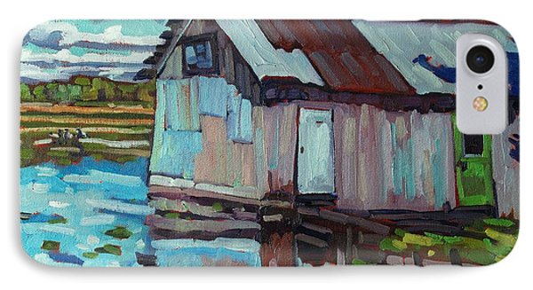 Green Door B And B IPhone Case by Phil Chadwick