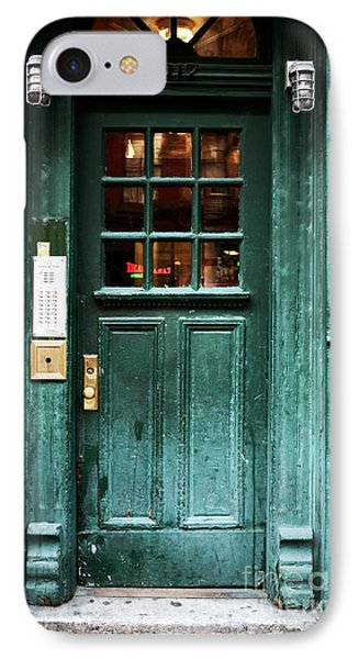 Green Door In The Village Phone Case by John Rizzuto