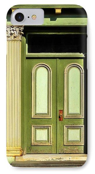 Green Door IPhone Case by Jon Woodhams