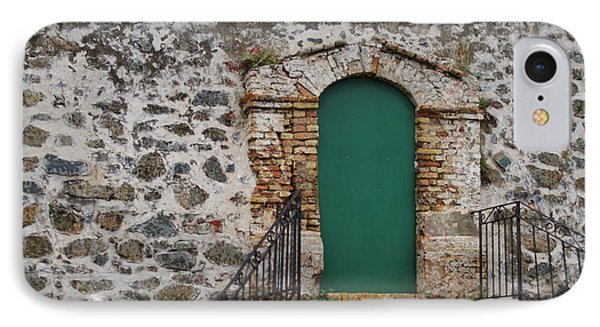 IPhone Case featuring the photograph Green Door by Lois Lepisto