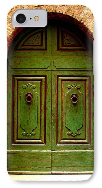 Green Door Phone Case by Ramona Johnston
