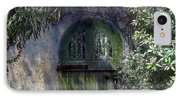 Green Door IPhone Case by Terry Reynoldson