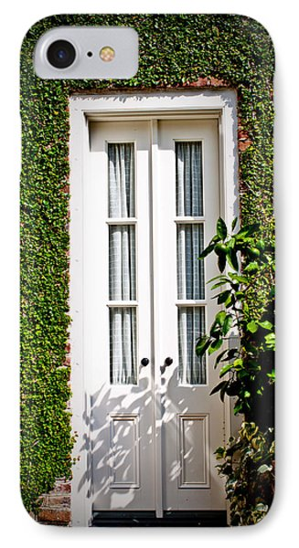 IPhone Case featuring the photograph Green Doorway by Jean Haynes