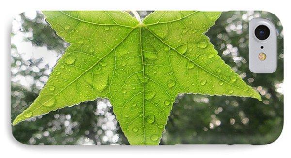 Green Droplets Phone Case by Sonali Gangane