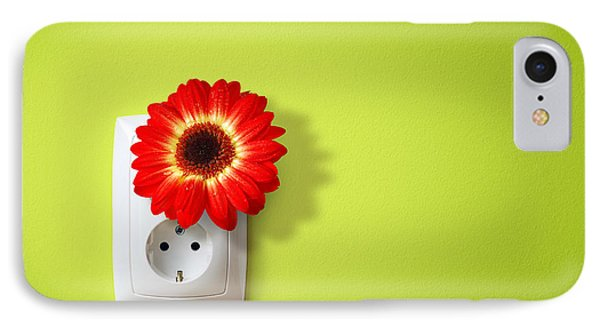 Green Electricity IPhone Case by Carlos Caetano