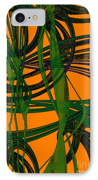 IPhone Case featuring the digital art Green Excitement by Hanza Turgul