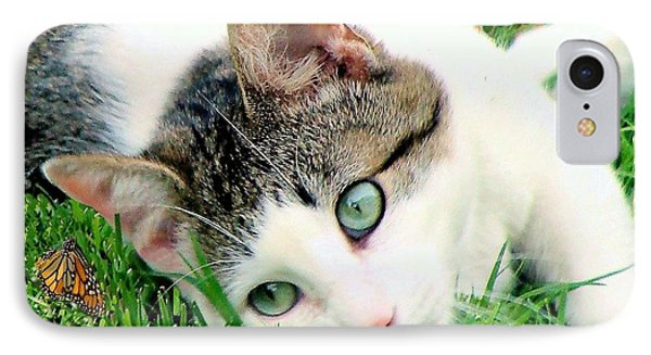 IPhone Case featuring the photograph Green Eyed Cat by Janette Boyd