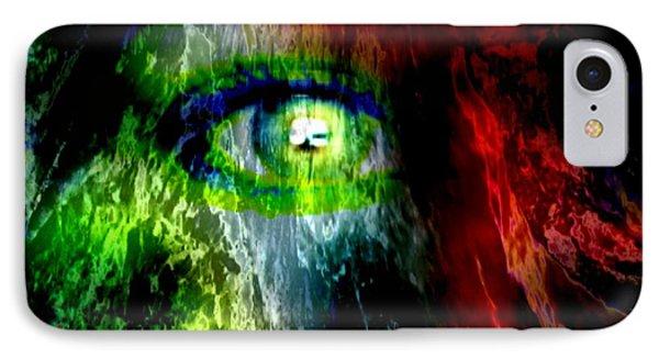 Green Eyed IPhone Case by Tlynn Brentnall