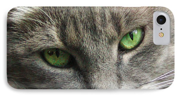 Green Eyes IPhone Case by Leigh Anne Meeks