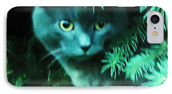 Green Eyes IPhone Case by Leslie Manley