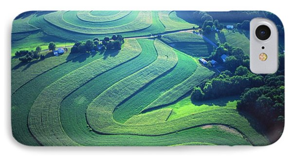 Green Farm Contours Aerial Phone Case by Blair Seitz