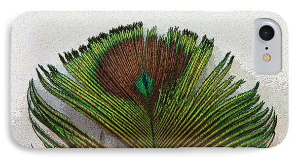 Green Feather Tip IPhone Case by Sally Simon