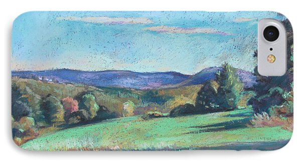 Green Field With Shadows IPhone Case by Linda Novick