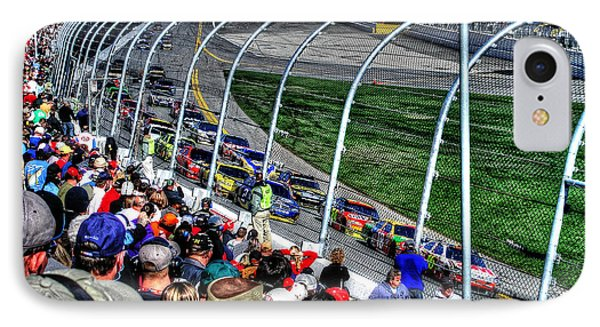 Green Flag 2010 Daytona 500 IPhone Case by Craig T Burgwardt
