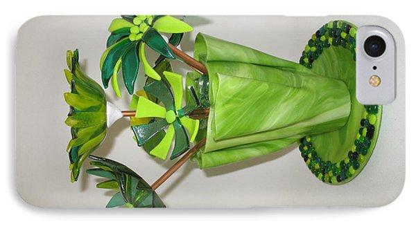 Green Flowers Phone Case by Steven Schramek