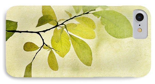 Green Foliage Series IPhone Case by Priska Wettstein