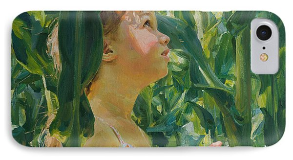 Green Forest Of Corn IPhone Case by Victoria Kharchenko