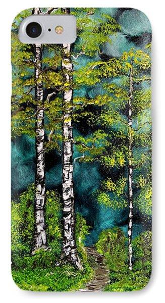 Green Forest Phone Case by Valerie Ornstein